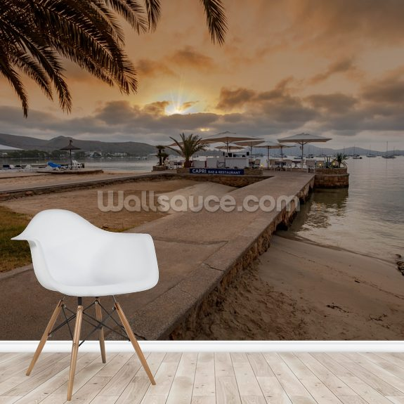Puerto Pollensa Bar wall mural room setting