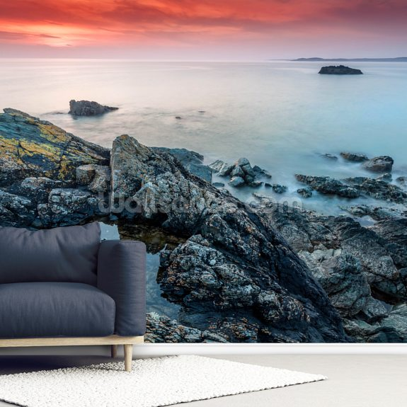 Llanddwyn Island Sunset wall mural room setting