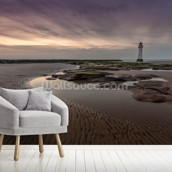New Brighton Lighthouse mural wallpaper room setting