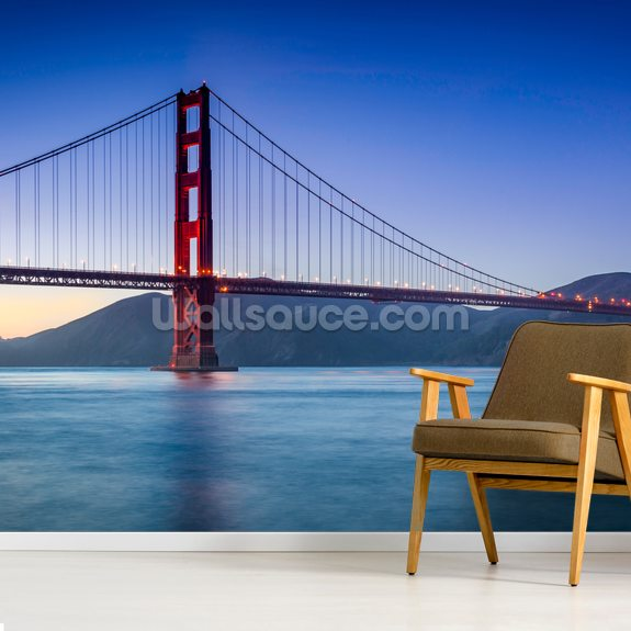 Golden Gate Sailboat wall mural room setting