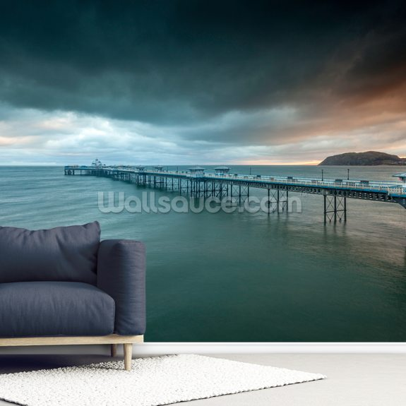 Llandudno Pier wallpaper mural room setting