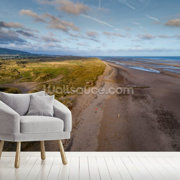 Talacre Beach wallpaper mural room setting