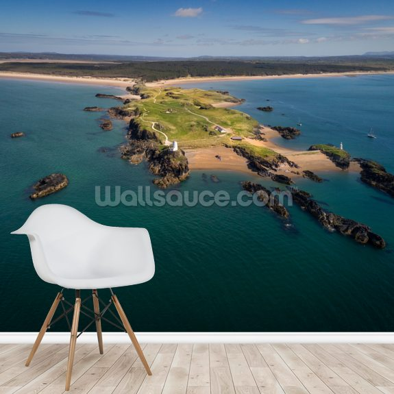 Llanddwyn Island Above wall mural room setting