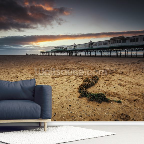 Lytham St Annes Pier wall mural room setting