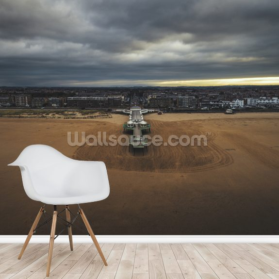 Lytham St Annes Aerial mural wallpaper room setting