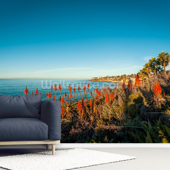 Laguna Beach Aloe Vera wall mural room setting