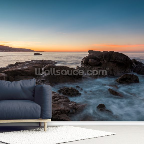 Laguna Beach Sunrise wallpaper mural room setting