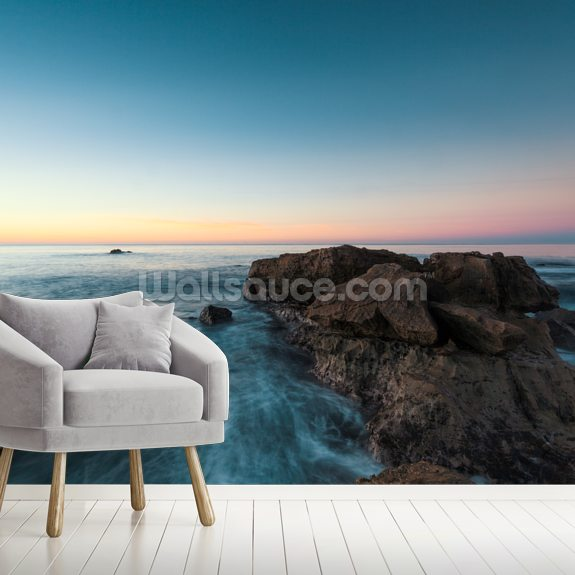 Laguna Beach Pastels wall mural room setting