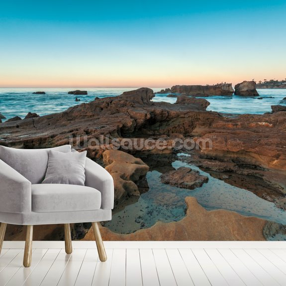 Laguna Beach Rock Pools wallpaper mural room setting