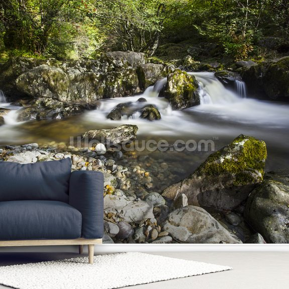 Aira Falls Lake District wallpaper mural room setting