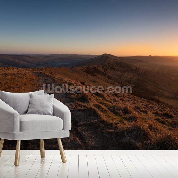 Mam Tor Sunrise wallpaper mural room setting