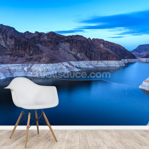 Hoover Dam Blue Hour wallpaper mural room setting