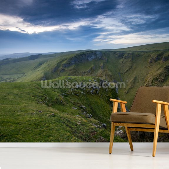 Winnats Pass Sunrise wallpaper mural room setting