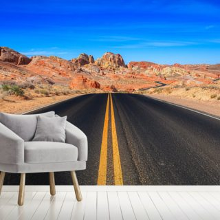 Valley of Fire Road Wallpaper Wall Murals