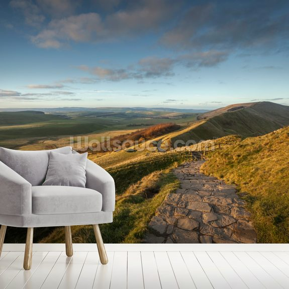Mam Tor Path wall mural room setting