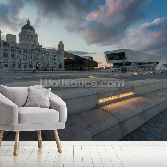 Liverpool Sunrise wall mural room setting
