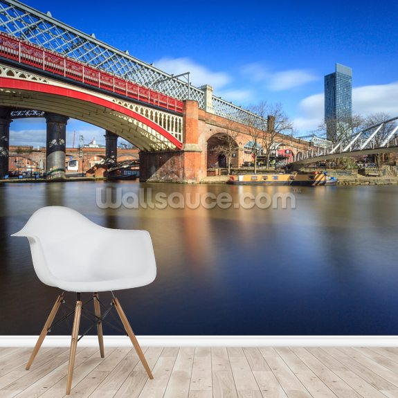 Castlefield Bridges wall mural room setting