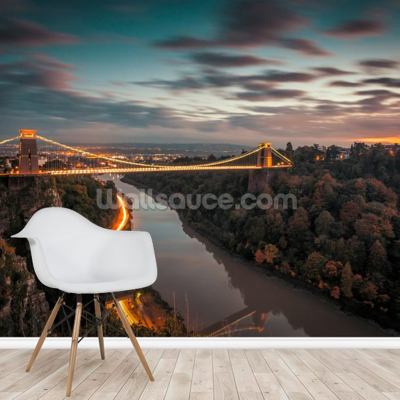 Bristol Clifton Suspension Bridge wall mural room setting