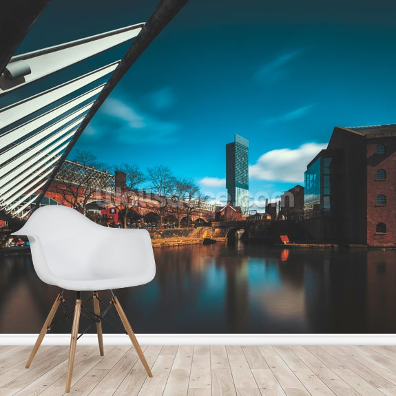 Castlefield Beetham Tower wallpaper mural room setting