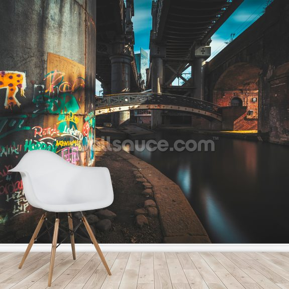Castlefield Industrial Bridges mural wallpaper room setting