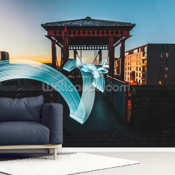 Manchester Light Trails wall mural room setting
