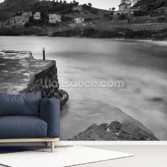 Cala San Vincente Steps wallpaper mural room setting