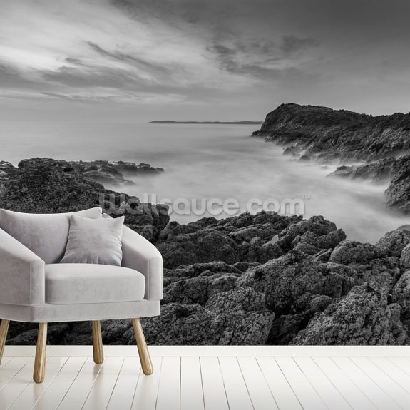 Llanddwyn Island Bay mural wallpaper room setting