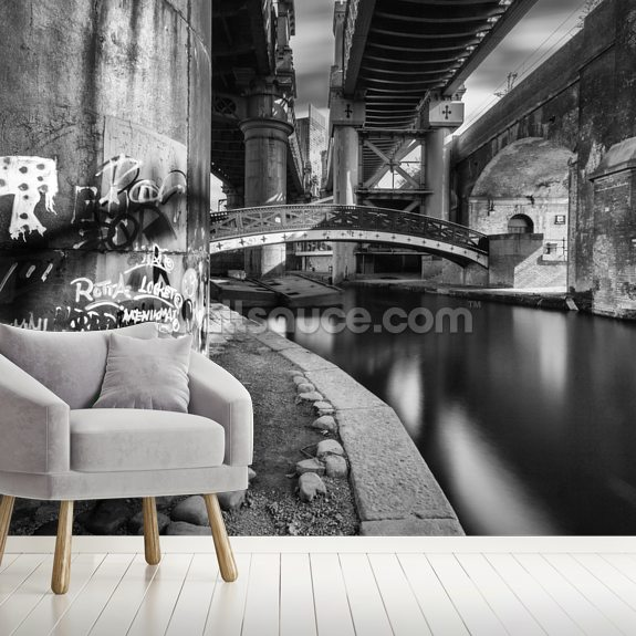 Castlefield Ironworks wallpaper mural room setting