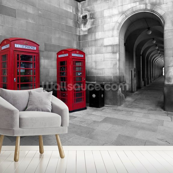 Manchester Telephones wall mural room setting