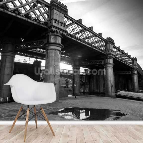 Castlefield Industrial mural wallpaper room setting
