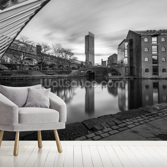Castlefield Tower Mono mural wallpaper room setting