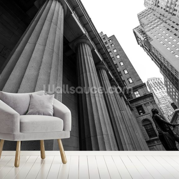 New York Stock Exchange wallpaper mural room setting