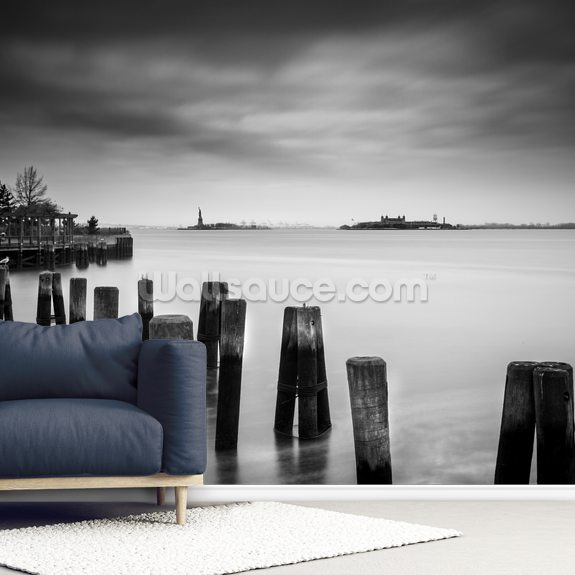 New York Hudson River wallpaper mural room setting
