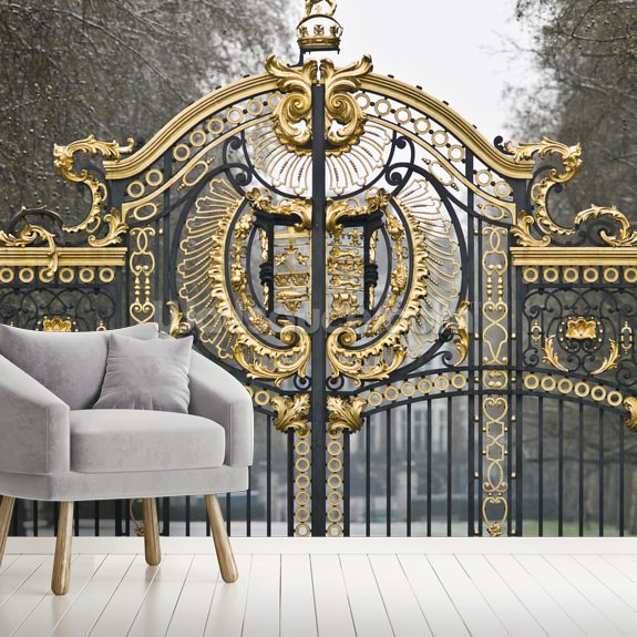 The Gates at Green Park wall mural room setting