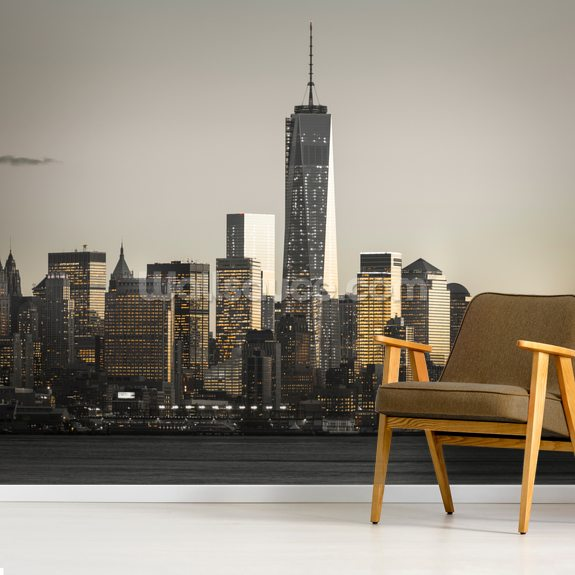 New York Architecture wallpaper mural room setting