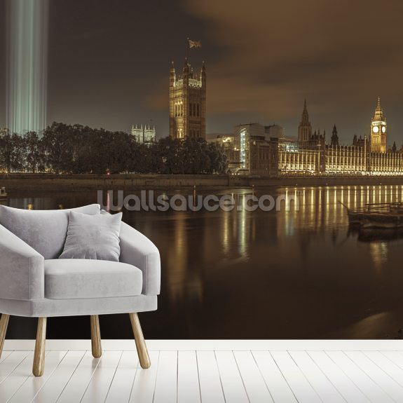 Westminster Abby Spectra lights wallpaper mural room setting