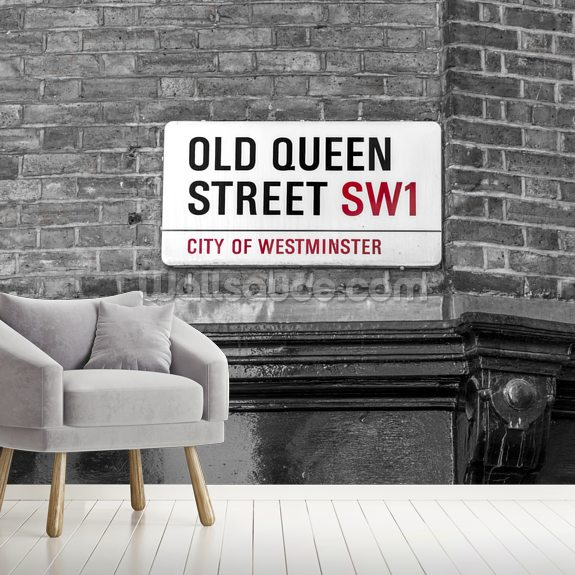 Old Queen Street Signboard wall mural room setting