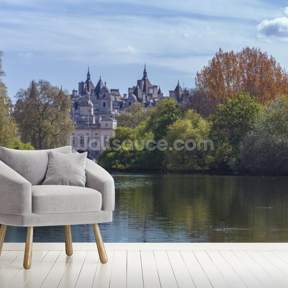 St James Park in London wall mural room setting