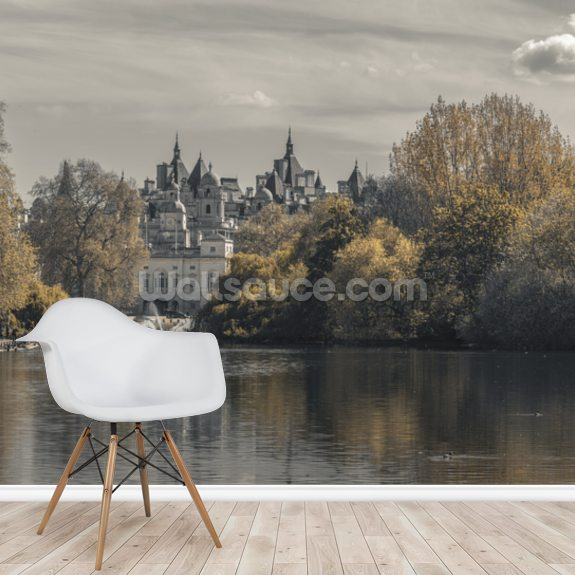 St James Park and the London Eye mural wallpaper room setting