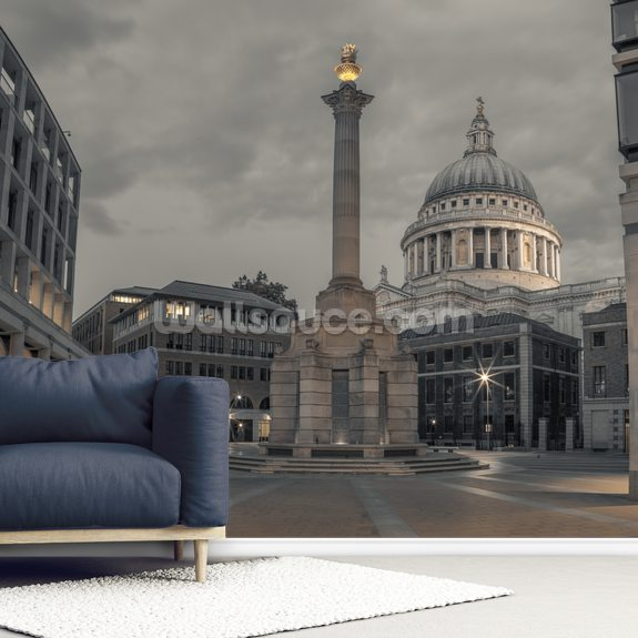 Paternoster Square London wall mural room setting