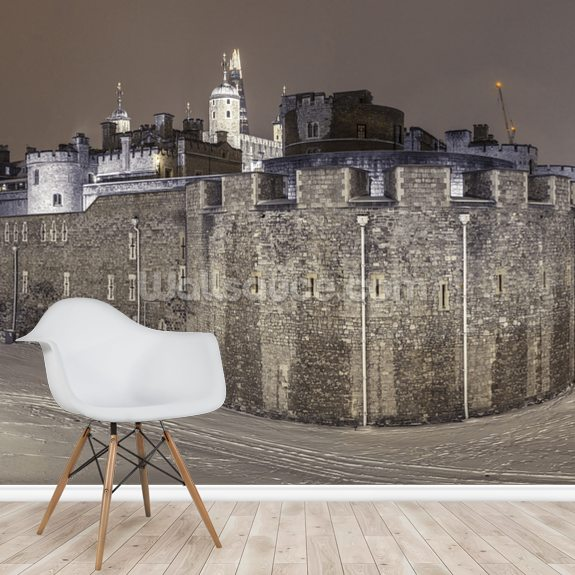 Tower of London Panorama mural wallpaper room setting