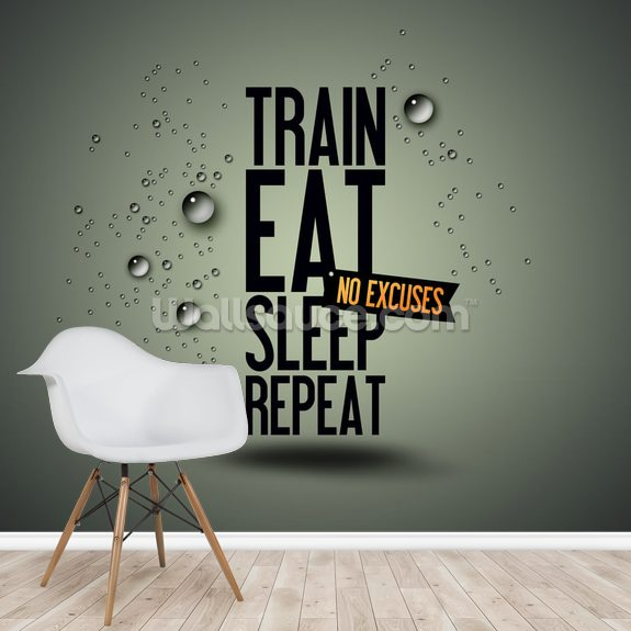 Motivating Gym wall mural room setting