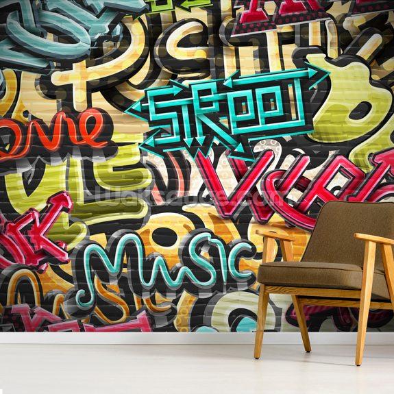 Graffiti Background Wallpaper Wallsauce Us