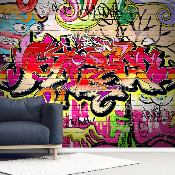 Graffiti Art Background wall mural room setting