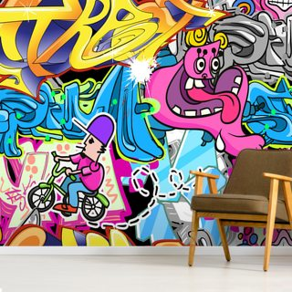 Graffiti Urban Art Background Wallpaper Wall Murals