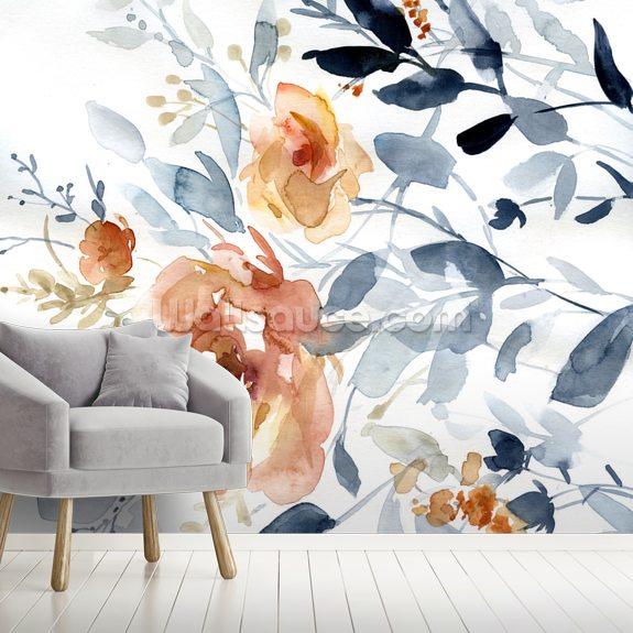 Flowering Branches wall mural room setting