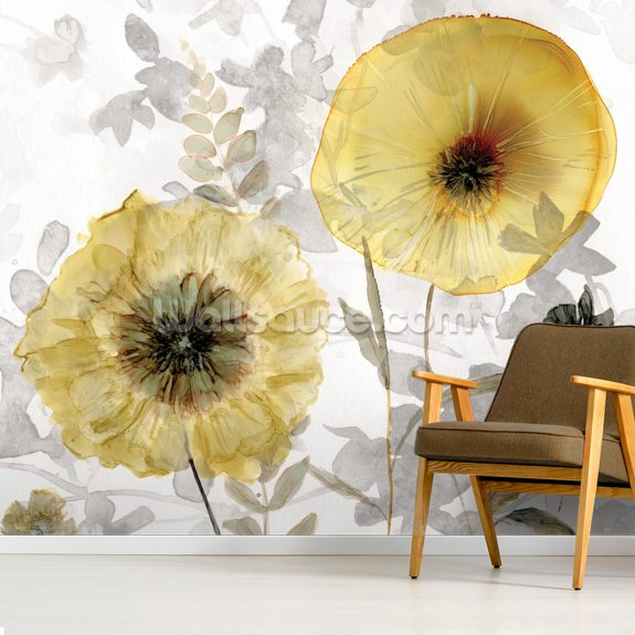 Transparent Gold wall mural room setting
