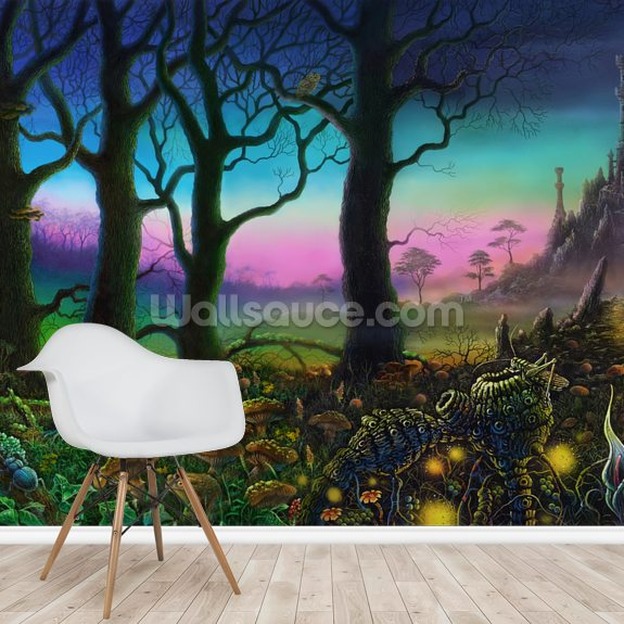 The Sad Squonk mural wallpaper room setting