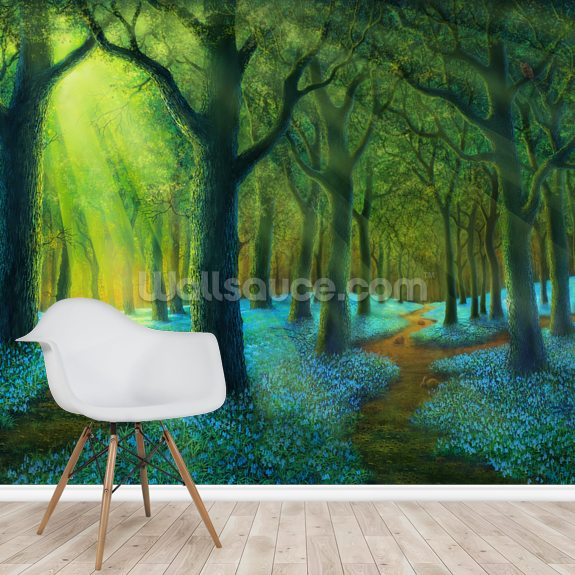 Bluebell Wood wallpaper mural room setting