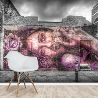 Graffiti Girl Wallpaper Wall Murals